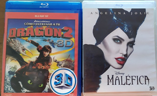 Blu Ray Oferta 3d Dragon 2 Malefica P Unitario