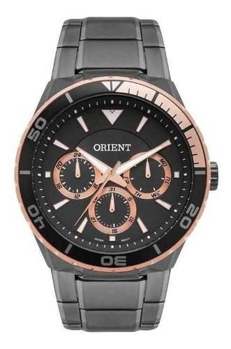 Relógio Orient Masculino Mtssm008 G1gx Preto Rose Gold