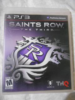 Ps3 Saints Row The Third Cambio Vendo Juegos Mandos