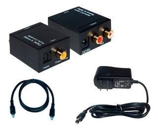 Convertidor De Audio Optico A Rca Analogico Cable Gratis