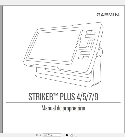 Manual Em Português Sonar Gps Garmin Striker Plus 4