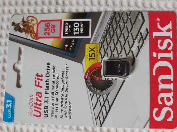 Pen Drive Sandisk 256gb Ultra Fit Usb 3.1