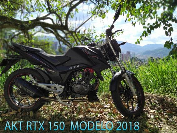 Moto Akt Rtx 150 Unishock Color Negro Mate Modelo 2018