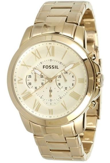 Reloj Fossil Fs4814 Acero Dorado Originales Nuevos En Caja