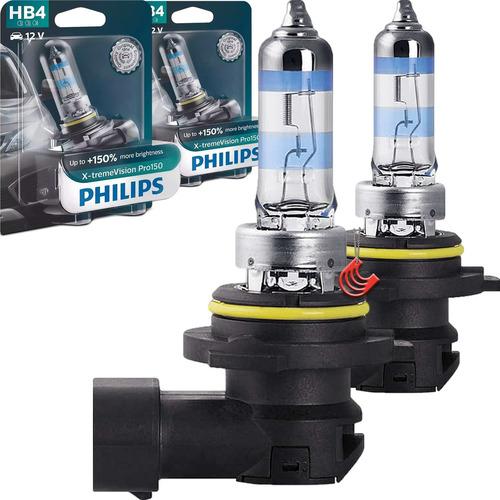 Imagem 1 de 4 de Kit Nova Philips Xtremevision Pro150 Hb4 51w + Luminosidade