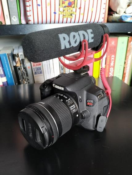 Canon T5i Lente 10-18mm + Microfone Rode Mic Go