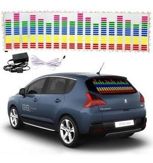 Panel Sticker Luminoso Ecualizador Led Auto Tuning Dj Audio