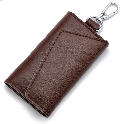 Carteira Pequena Couro Porta Chave Chaveiro Cartão Cores