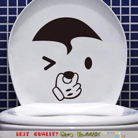 Adesivo Vaso Sanitário Decorativo De Banheiro Carinha Rosto