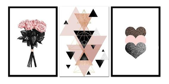 Quadros Placas Decorativos Coração Flores E Vários Outros