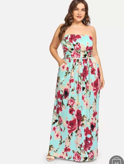 Hermoso Vestido Floreado Xxl