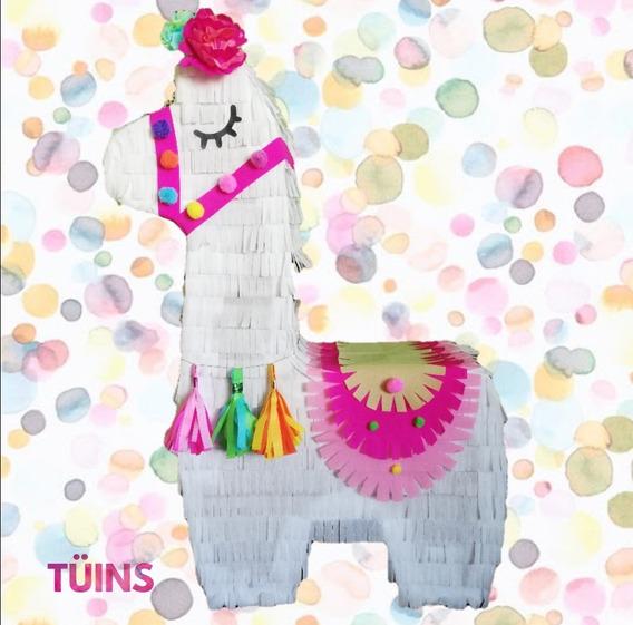 5 Mini Piñatas Personalizadas Llama Piña Centro De Mesa