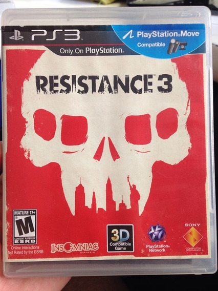 Resistance 3 Playstation 3 Ps3 Sony Completo R$79,99
