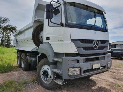 Mercedes-benz Axor 4144 6x4 Ano 2014/2014 Caçamba Traçado