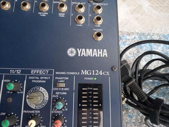 Mesa De Som Yamaha Mg124cx 12 Canais Com Compressor