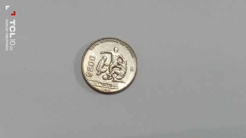 Moneda Coleccionable De 200 Pesos Del Mundial De México 1986
