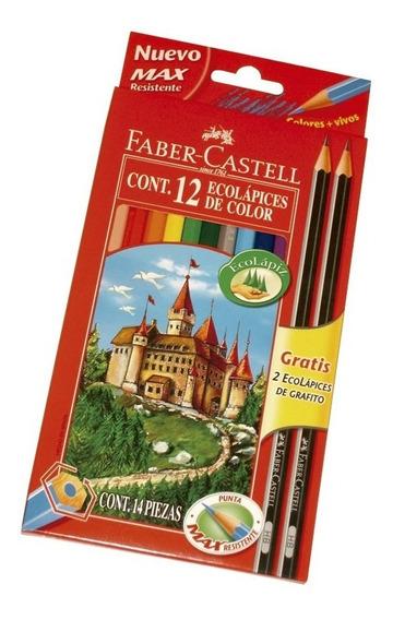 Lapiz Faber Castell X 12 Lapices Colores Largos