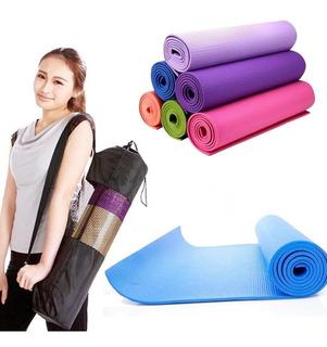 Colchoneta Mat Yoga Pilates Deportes 6 Mm Pvc + Bolso Regalo