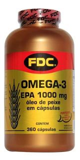 Omega 3 Fdc 360 Cápsulas Epa 1000 Mg Óleo De Peixe Importado