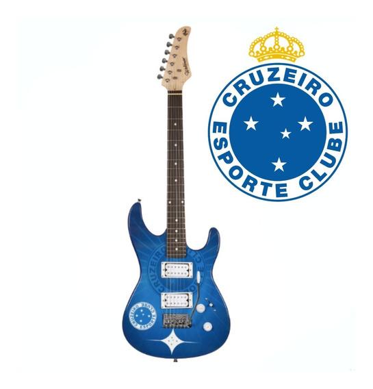Guitarra Waldman Time Cruzeiro Azul E Branco + Correia Basso