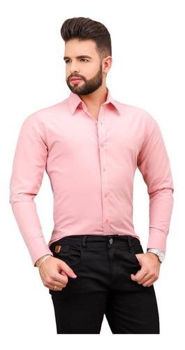 Imagem 1 de 4 de Camisas Social Masculina Slim - Promoção - Pp Ao Plus Size