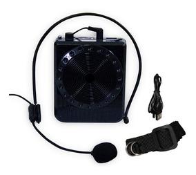 Mini Megafone Amplificador Voz Microfone Professor Radio Fm