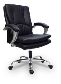 Cadeira Escritório Preta Giratória Alto Conforto - Fun Relax