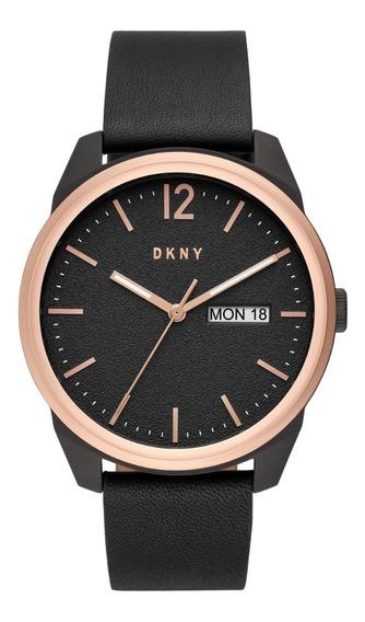 Reloj Caballero Dkny Ny1605 Color Negro De Piel