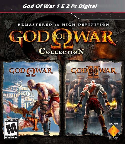 God Of War 1 E 2 Pc Digital + 1000 Jogos De Fliperama!