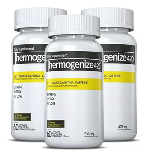 Kit 3 Thermogenize 420 - 60 Caps Inove Nutrition Termogênico