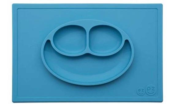 Ezpz Happy Mat - Jogo Americano Com Rostinho Feliz Azul