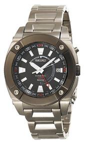 Relógio Seiko Kinetic Masculino Diver Gmt Prata/aço Original