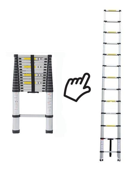 Escalera Telescópica Plegable Aluminio 5 Mts 150kgs Cenvio