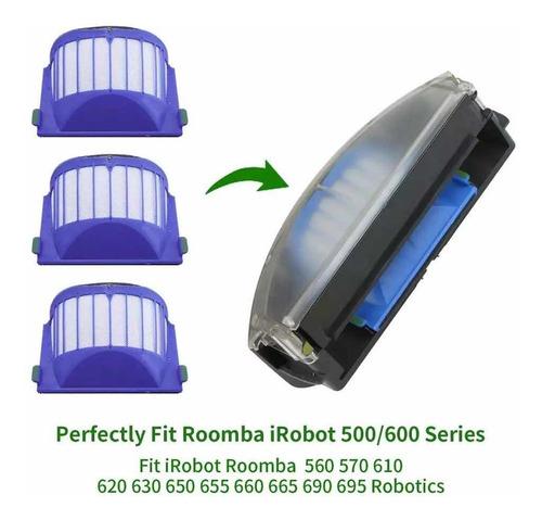 Kit 3 Filtros Aspirador Irobot Roomba 500 600 Pronta Entre