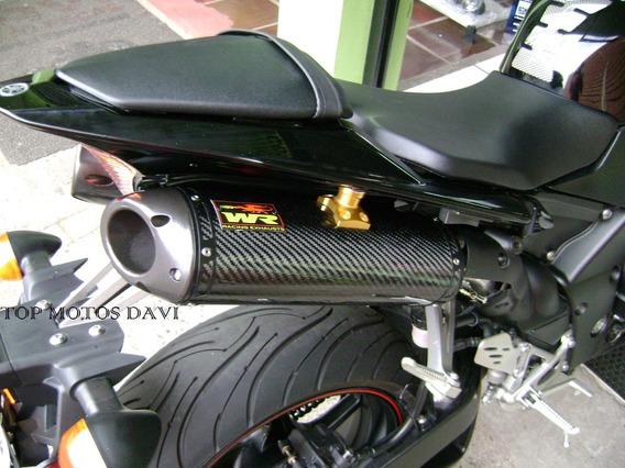 Ponteira Wr Par Oval Fibra Carbono Yamaha R1 09/14
