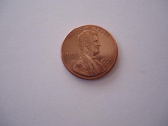 Moeda Bronze 1 Um One Cent Centavo Dolar 1995 Usa America