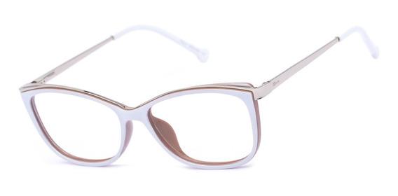 Armação Oculos Ogrife Og 1786-c Feminino Acetato Metal