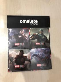 Porta Copos / Imã De Geladeira - Omelete Box - Marvel