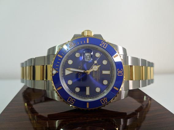 Relógio Eta - Modelo Submariner Misto Blue 18k - Noob V9