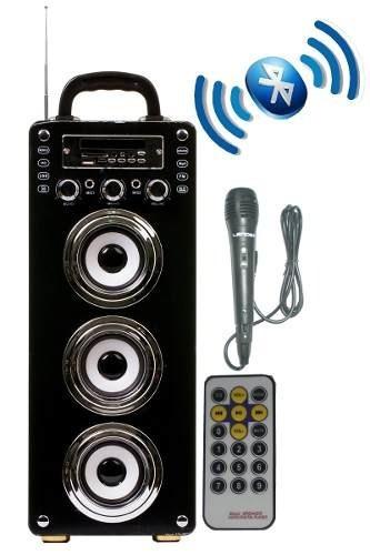 Caixa Som Portátil 3sub Cont Microf Bluetooth Usb Fm Bat Sd