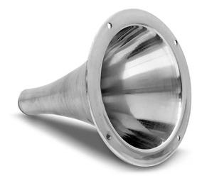4 Corneta Cone Longo Rosca Alumínio Jarrão P D250x Boca 17cm