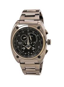 Relógio Seiko Kinetic Cinza/preto/aço Cronógrafo Original