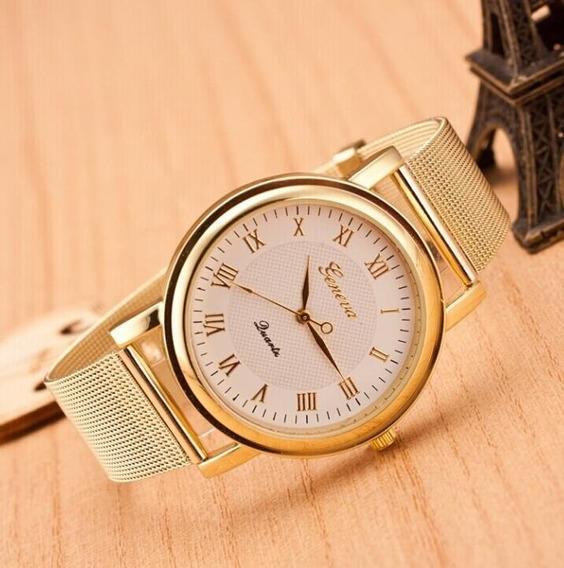 Relógio Feminino Dourado Barato ( P R O M O Ç Ã O )