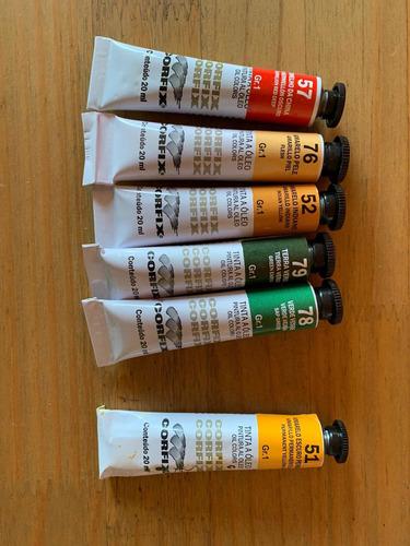 Imagem 1 de 3 de Kit 5 Tintas Óleo Corfix 20ml Vencidas Promoção