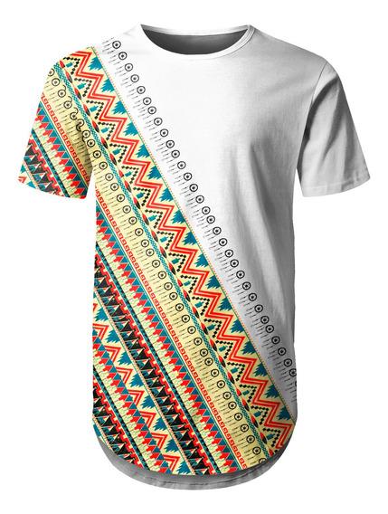 Camiseta Masculina Longline Étnica Tribal Africana Md06
