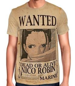 Camisas Camisetas De Animes One Piece Wanted Nico Robin