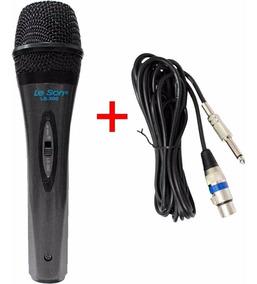 Microfone Dinâmico Leson Ls-300 - Com Fio