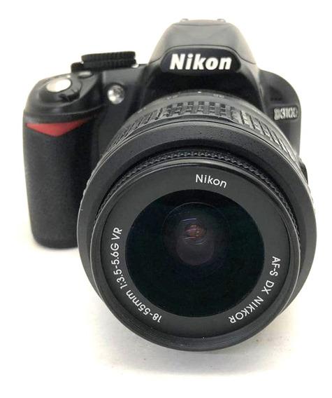 Câmera Nikon D3100 Com Lente 18-55mm Vr Usada