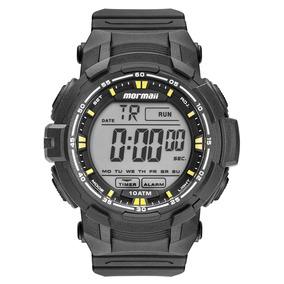 Relógio Mormaii Mo8121ab8y Preto/amarelo