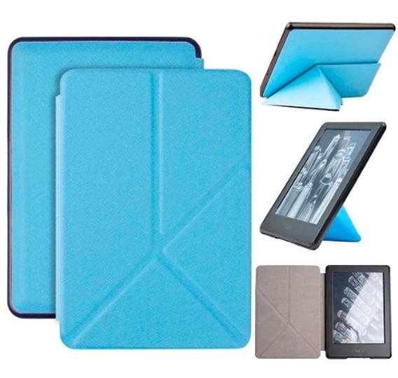 Capa Case Novo Kindle 10ª G. 2019 Origami Azul + Película